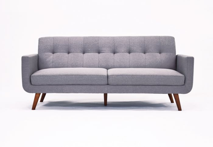 Strange Baron 3 Seater Sofa In Grey Fabric With Wooden Legs Theyellowbook Wood Chair Design Ideas Theyellowbookinfo