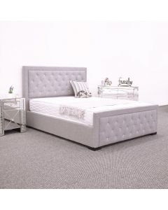 Scottow Linen Grey Fabric Bed Frame