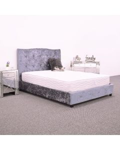 Belton Silver Crushed Velvet Bed Frame