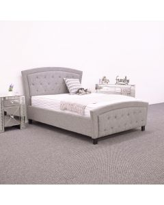 Holt Light Grey Fabric Bed Frame