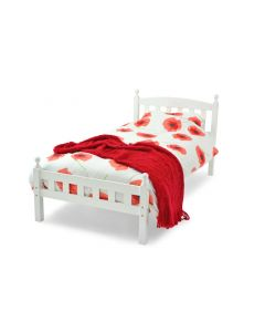 Sophia Wooden Bed - White