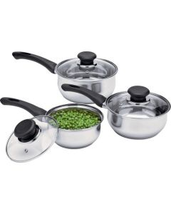 3 Piece Stainless Steel Pan Set - Entry Level