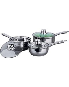 3 Piece Stainless Steel Pan Set - Standard