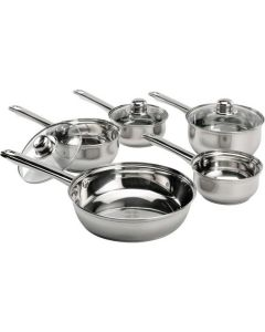 5 Piece Stainless Steel Pan Set - Standard