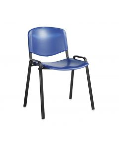 Toro Stacking Chair - Black 4 Legs - Blue Plastic