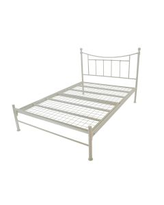 Bold Metal Bed - Ivory