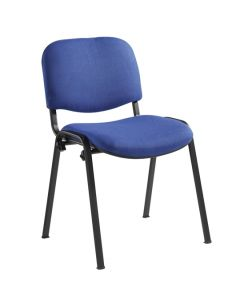 Toro Stacking Chair - Black 4 Legs - Fabric