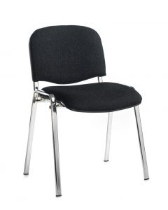 Toro Stacking Chair - Chrome 4 Legs - Fabric