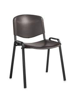 Toro Stacking Chair - Black 4 Legs - Black Plastic
